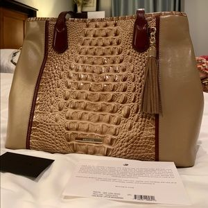 NWT Brahmin Medium Julian Travertine Cordina Tote